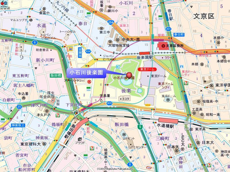 小石川後楽園の地図