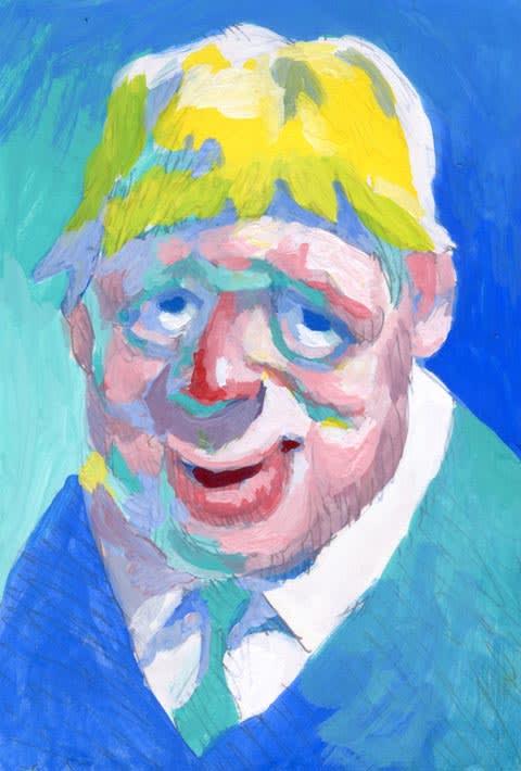 ボリスジョンソン似顔絵イラスト画像