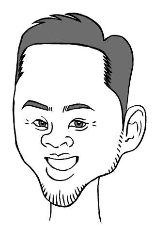 北島康介氏の似顔絵イラスト画像