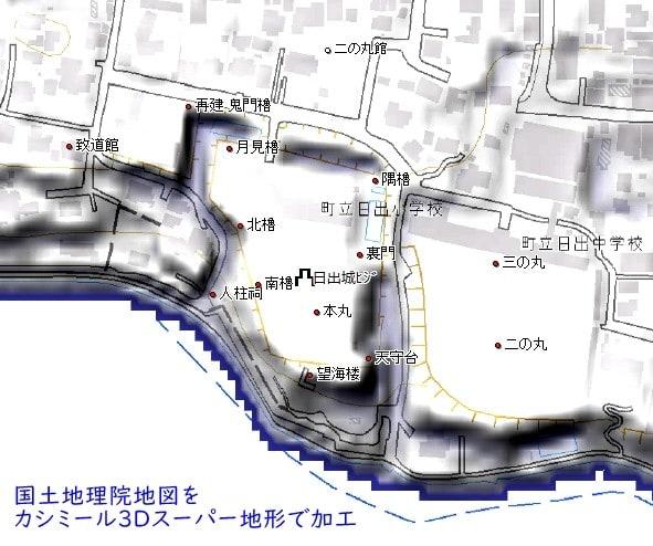 豊後・日出城 学校の敷地となって遺構の残存状態が良好な近世城郭 - 城 ...