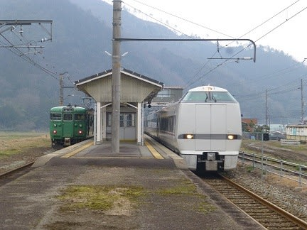 JR山陰本線のレトロ駅、養父駅 -...