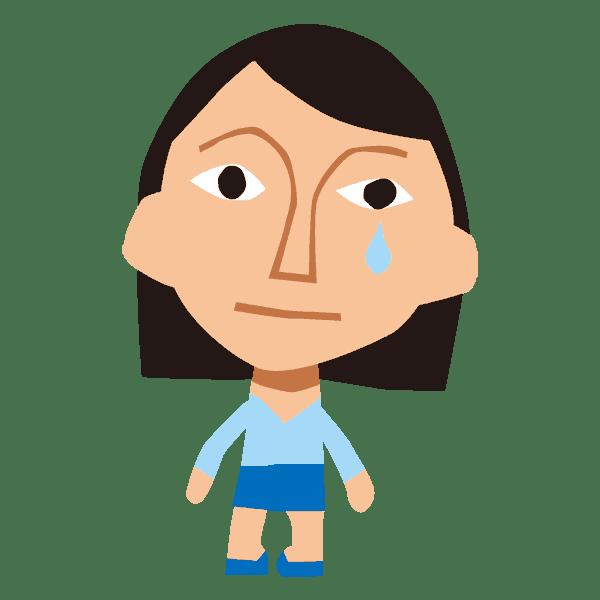 泣く女の似顔絵