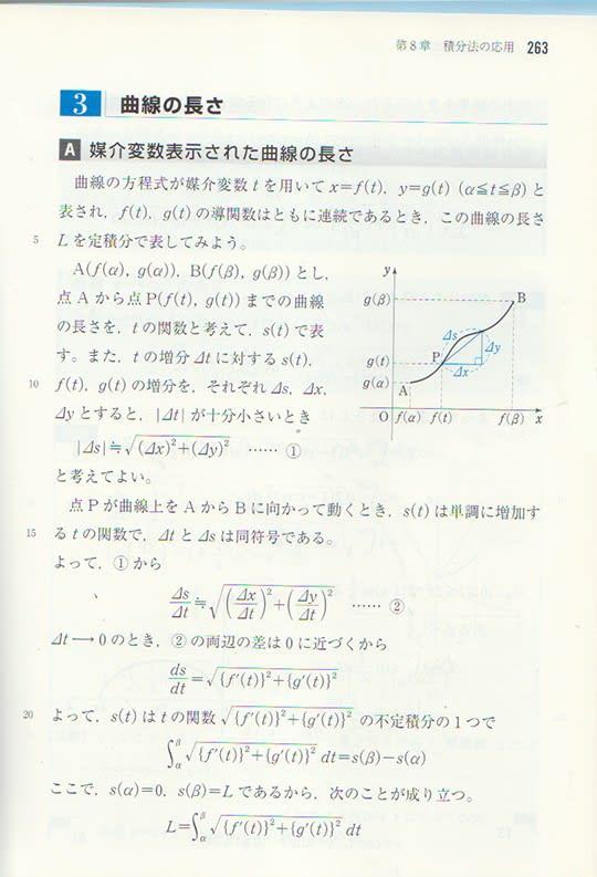 媒介変数表示の平面曲線の長さ ...