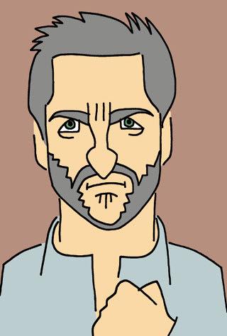 ヒュー・ジャックマンの似顔絵