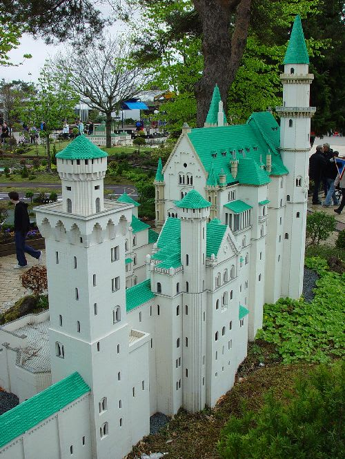 レゴで出来たノイシュバンシュタイン城