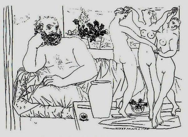 ピカソ1934年の素描