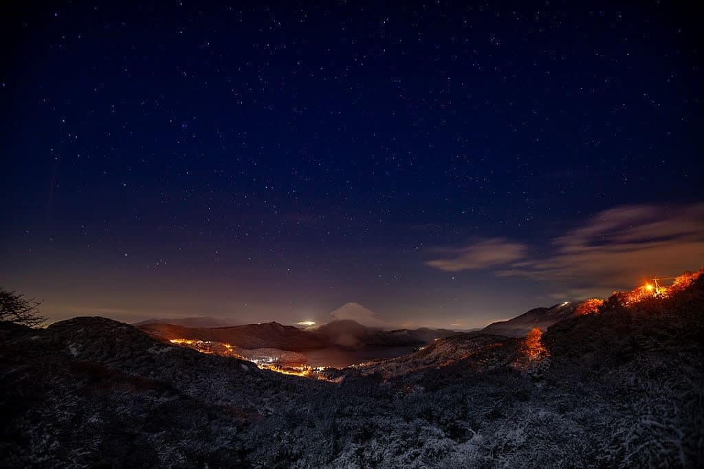 箱根大観山より星景の写真