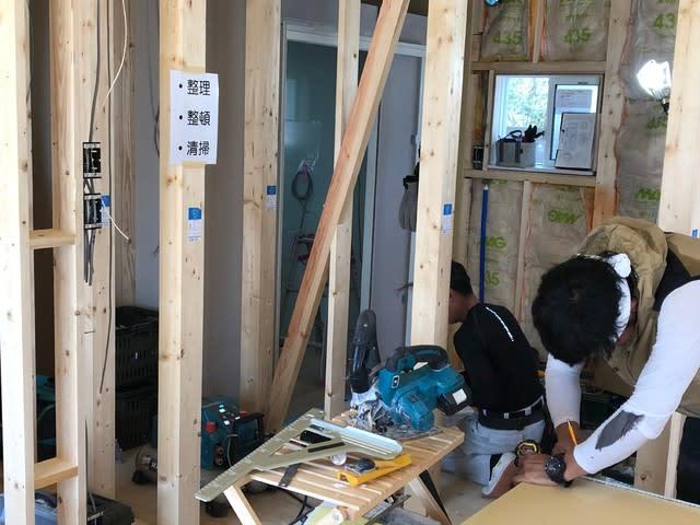 岡山市の新築現場の木工事の様子です。 | 岡山市で新築一戸建てを建てるならサン・ブランドハウス