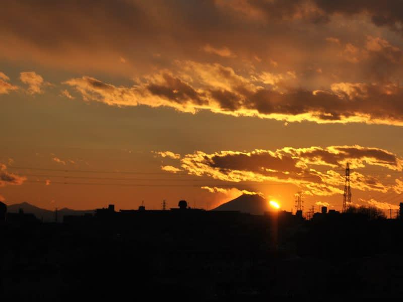 12月29日 黄金色の夕日