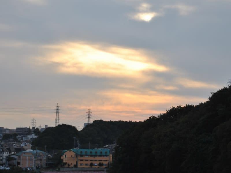 10月23日 夕方の雲