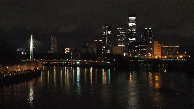 岩崎橋とOBP