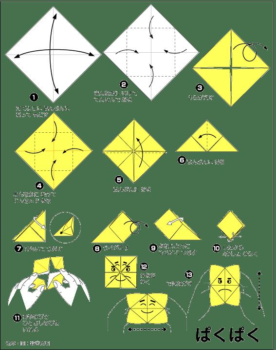 クリスマス 折り紙 折り紙 ぱくぱく : ameblo.jp