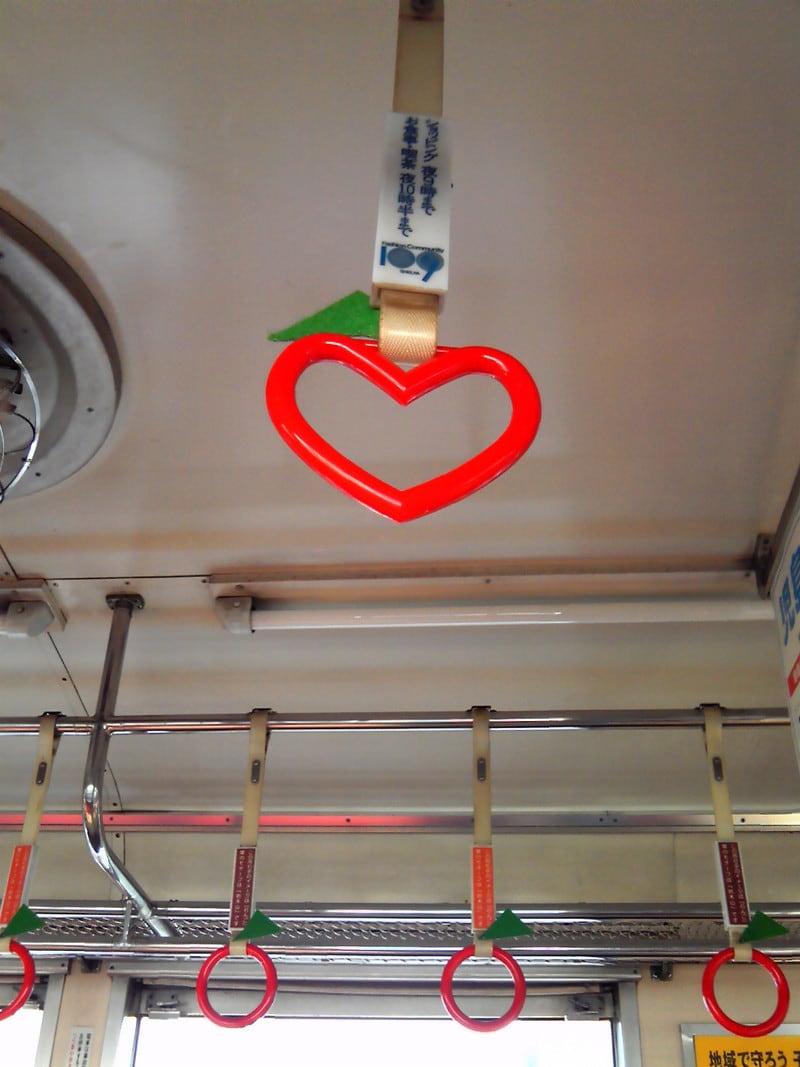 ハート型の吊り輪(*^^*)
