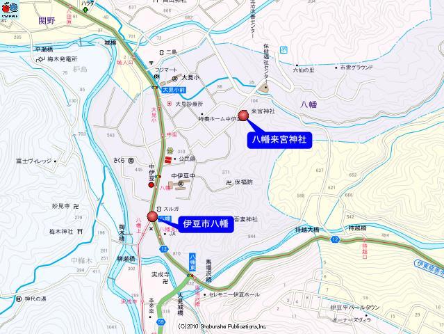 伊豆市八幡の地図