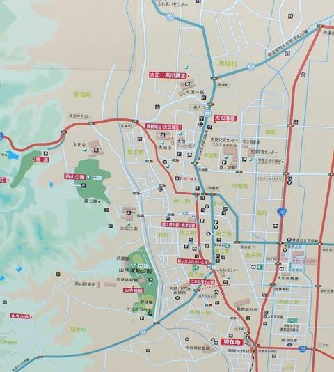 常陸太田駅周辺のガイドマップ