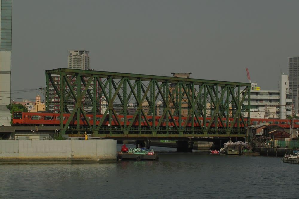 岩崎運河橋梁と木津川橋梁 - 中...