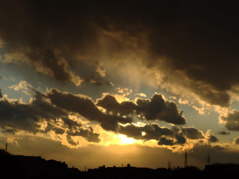 12月25日 金色の夕日