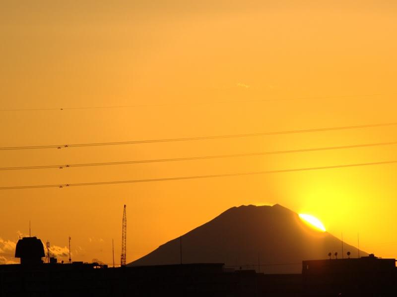 12月27日 富士山と夕日