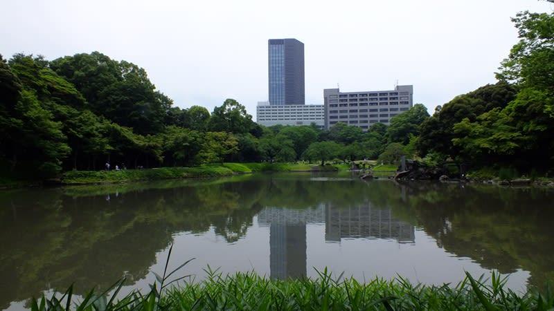 小石川後楽園の池