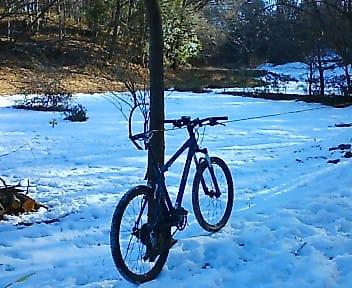 雪 マウンテンバイク