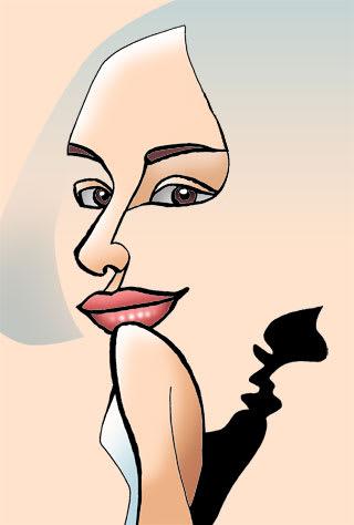 水原希子似顔絵イラスト画像
