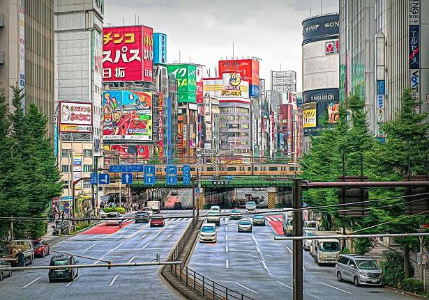 2019.09.05 西新宿7 大ガード: 中央線快速電車が行くカラフルな風景