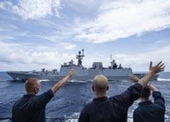 海上自衛隊,遠航部隊,南シナ海,米海軍,空母ロナルドレーガン,空母ニミッツ,USSスタレット,USSプリンストン,オーストラリア海軍,インド海軍,海戦,戦艦,護衛艦,乗り物,乗り物のニュース,乗り物の話題,