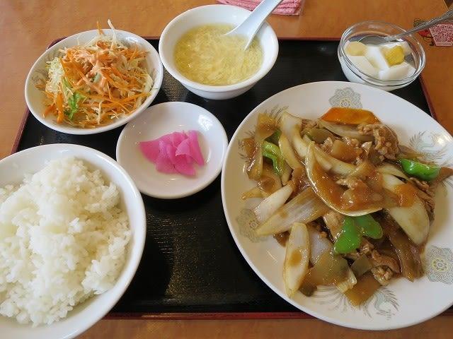 ザーサイと豚肉炒め定食
