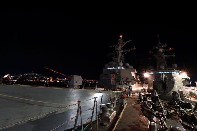 パシフィックヴァンガード2021,Pacific Vanguard2021,JMSDF,海自,ホバート級駆逐艦,HMASブリスベン,米海軍,USSラファエルペラルタ,豪海軍,韓国海軍駆逐艦ワンゲオン,共同訓練,戦艦,