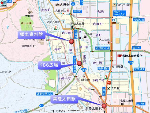 常陸太田郷土資料館周辺の地図