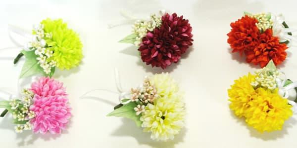 卒園 卒業式 園児 生徒用コサージュ マム アートフラワー(造花)