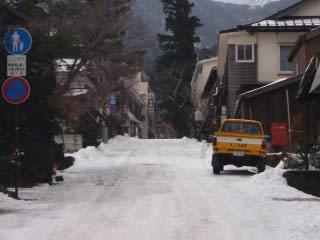 除雪後のためまだ道が綺麗。