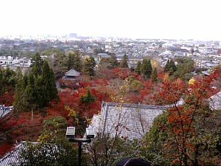 永観堂、多宝塔からの眺めです。