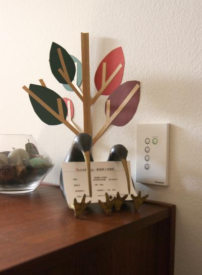 紙で作ったクリスマスツリー