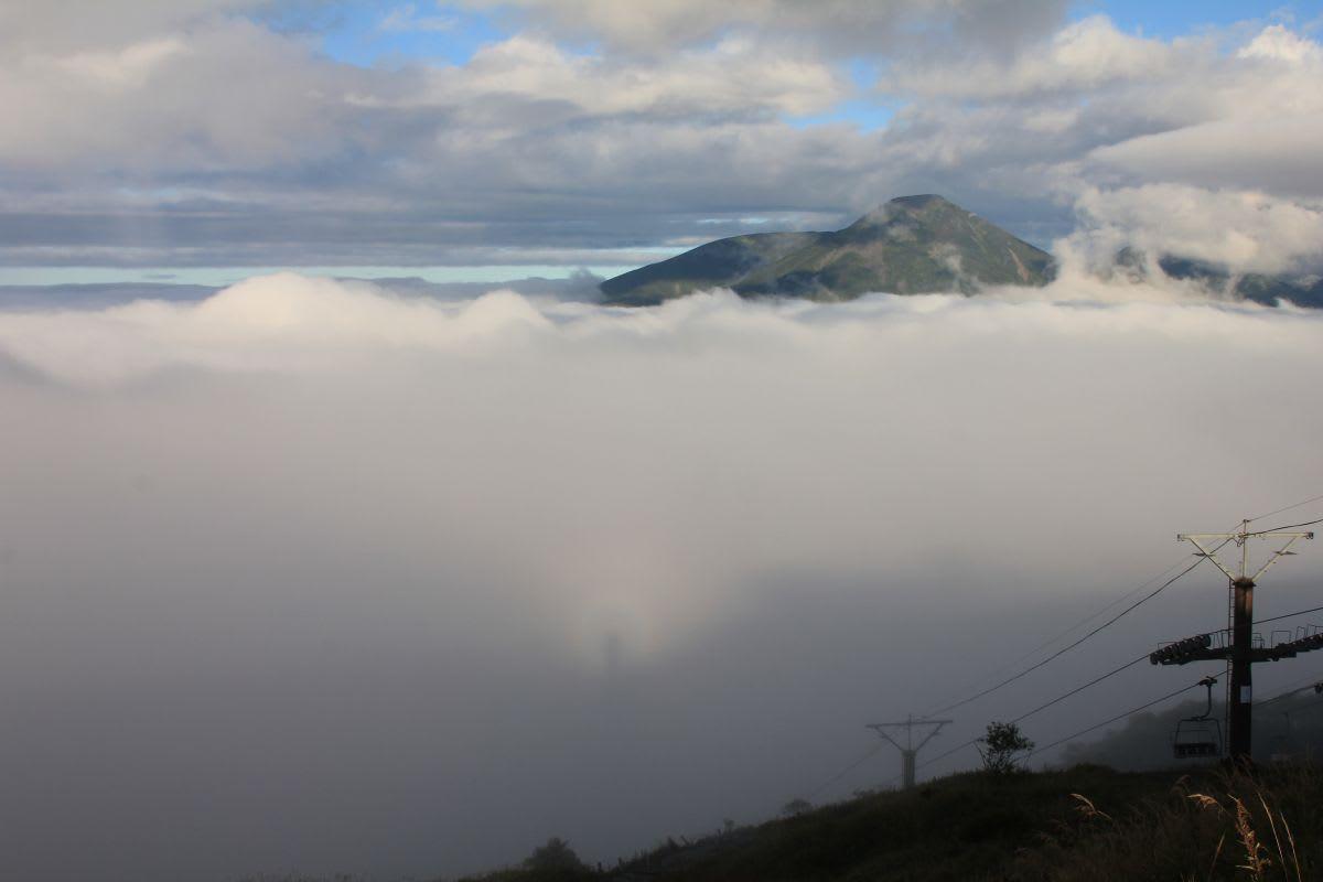 ブロッケン現象がでました!霧ヶ...
