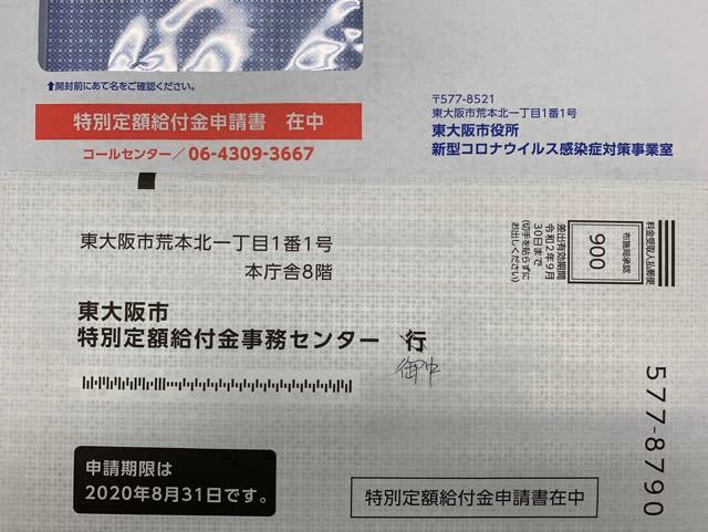 東 大阪 給付 金