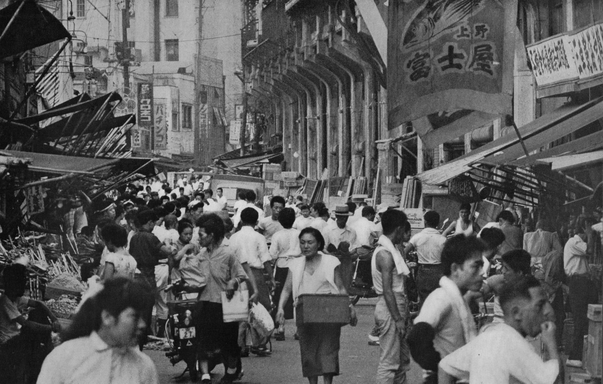 1950年代の東京のまち town and people of tokyo in 1950 s 山本
