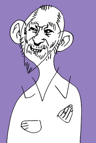 ミッキーカーチス似顔絵イラスト画像