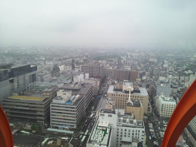 京都タワー展望室5Fより