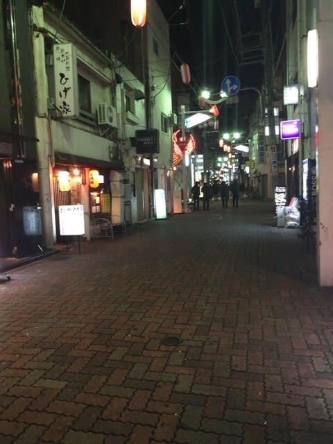 1月10日 成人式の夜の街。秋田町...