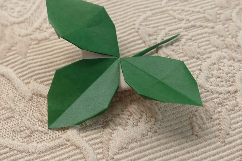 クリスマス 折り紙 折り紙 葉っぱ 折り方 : blog.goo.ne.jp