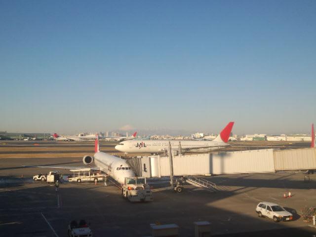 JAL1201便に乗って