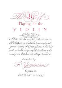 バロックのヴァイオリン奏法
