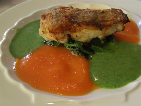 鮮魚のソテー2種ソース