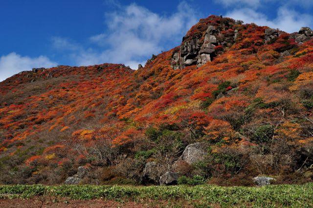 三俣山北峰稜線