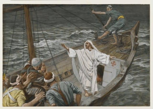 奇跡を行うキリスト:突風と湖を...