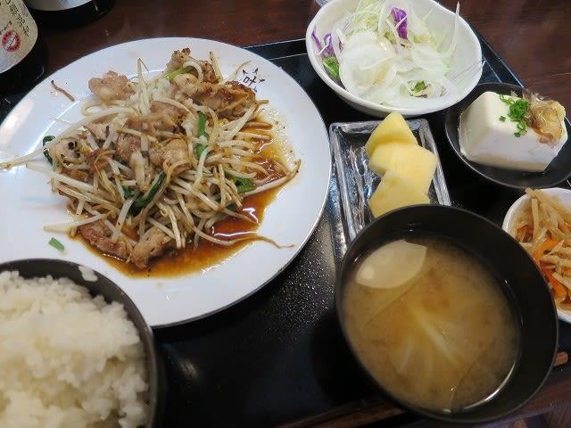 おろし肉炒め定食