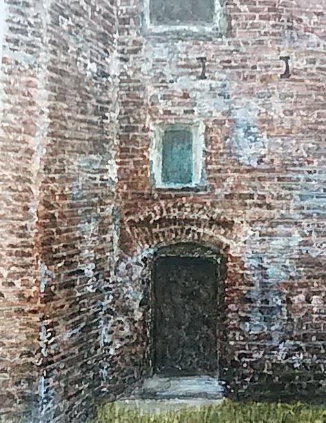 楽描き水彩画「赤レンガ建物=旧カブトビール工場の絵の2回目