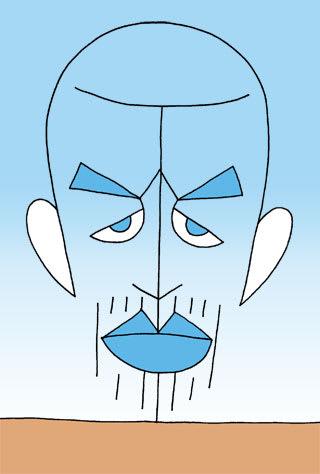イチローの似顔絵