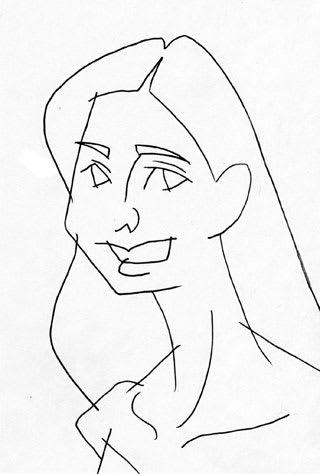 新木優子似顔絵イラストレーション画像